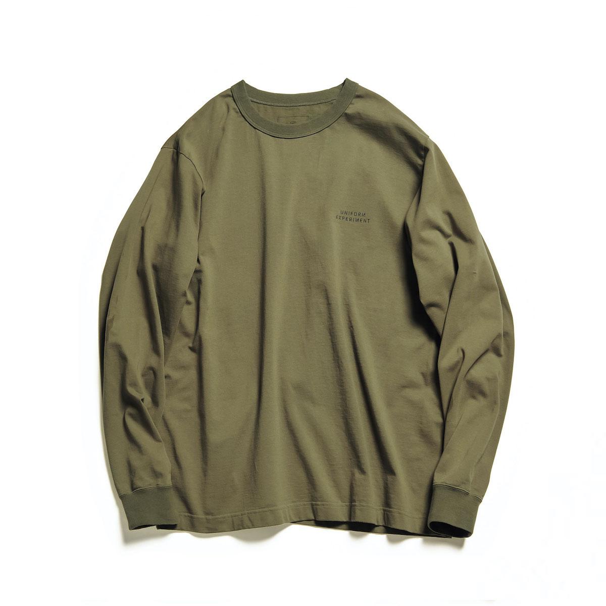 uniform experiment / STENCILE WIDE L/S TEE (Khaki)