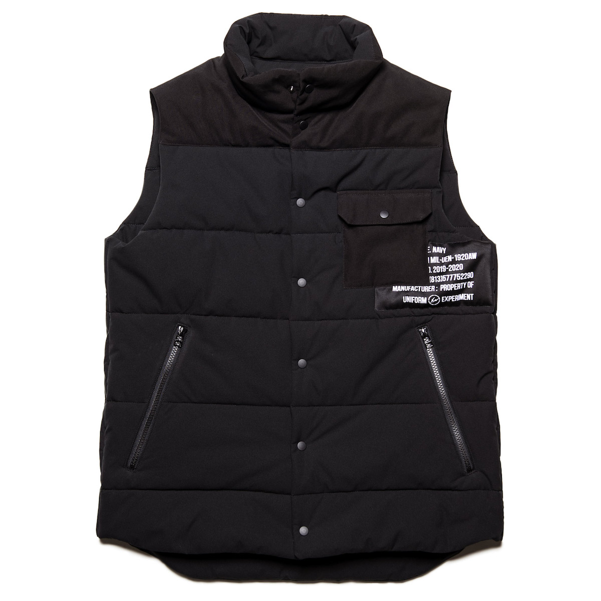 uniform experiment / PADDED VEST (Black)