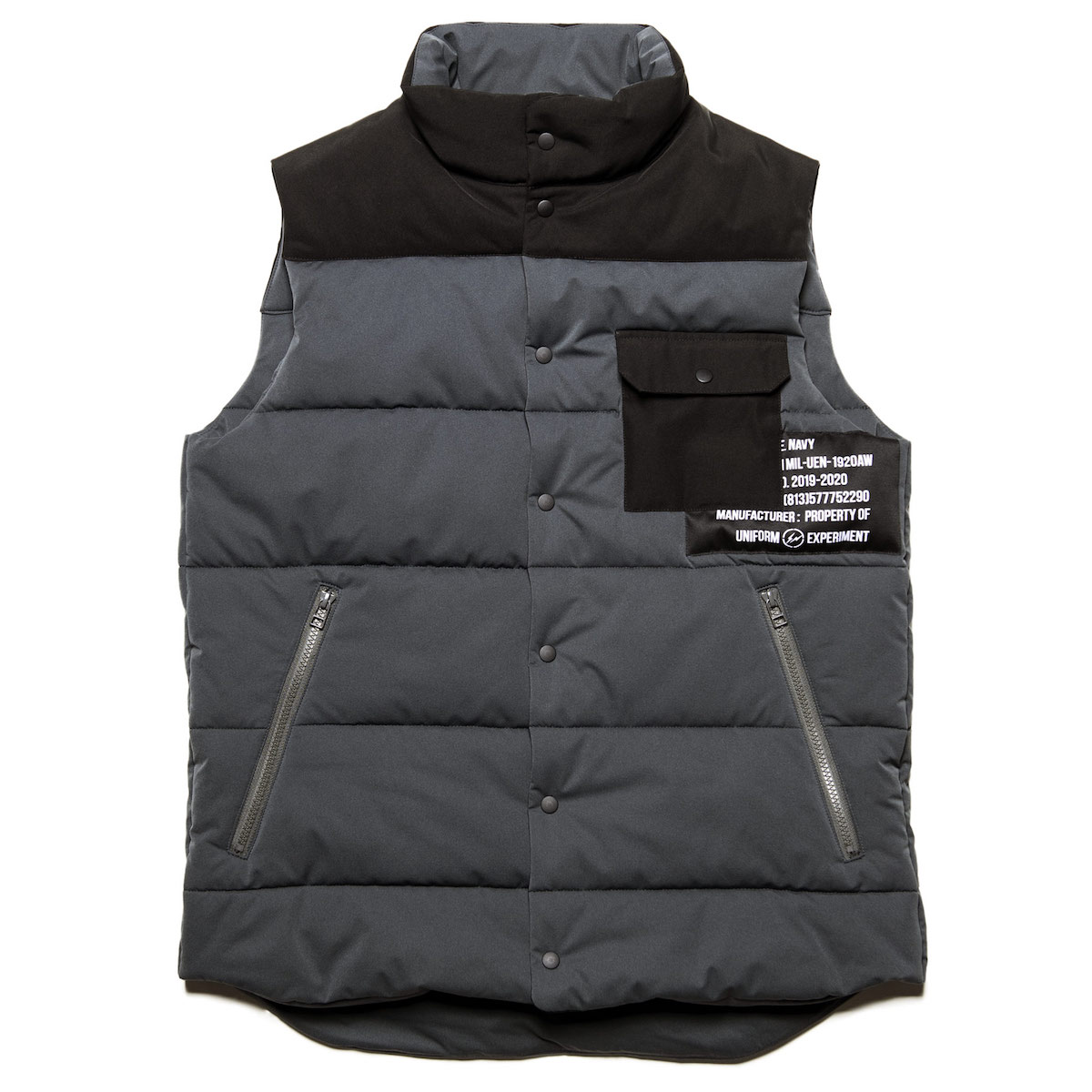 uniform experiment / PADDED VEST (Gray)