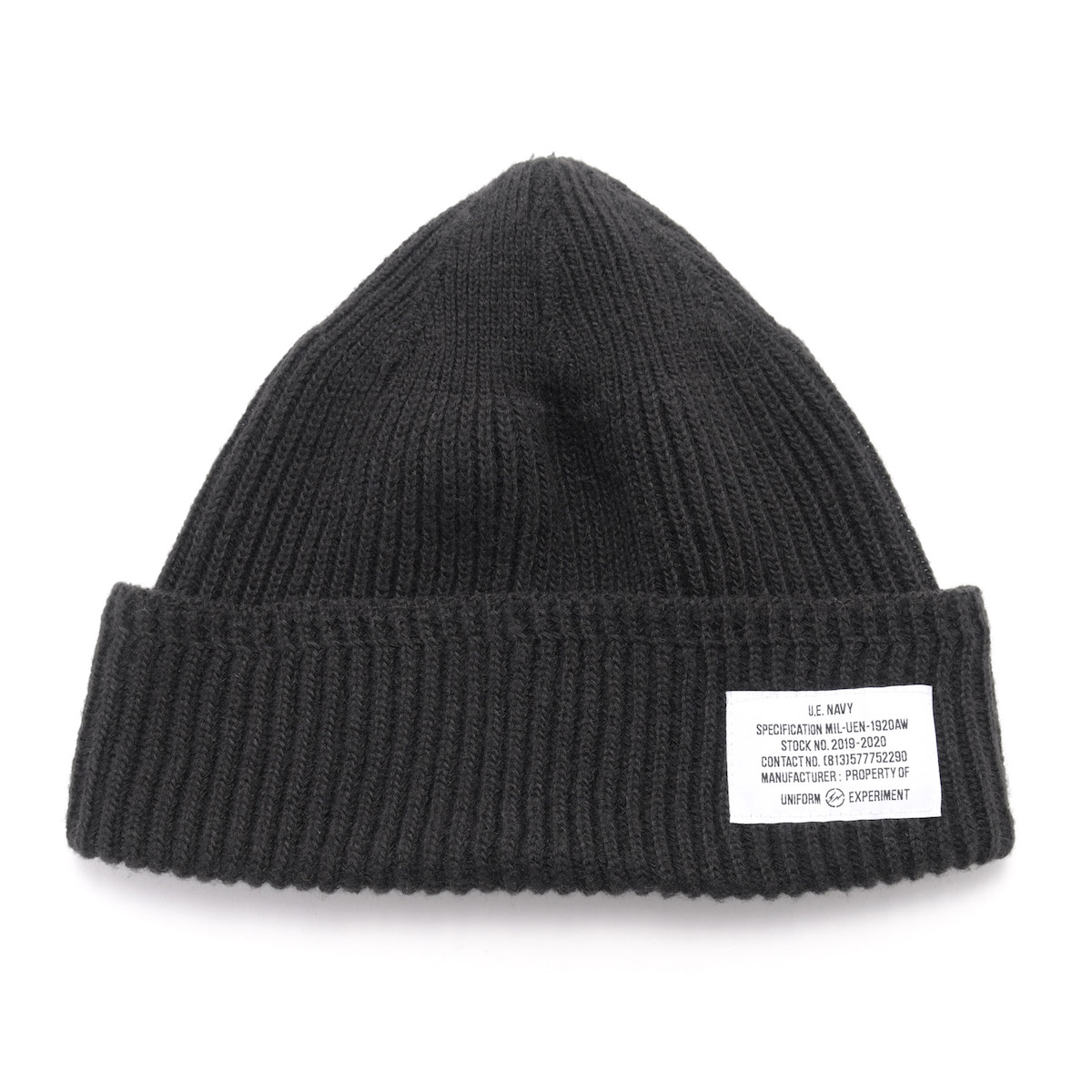 uniform experiment / UEN WATCH CAP (Black)