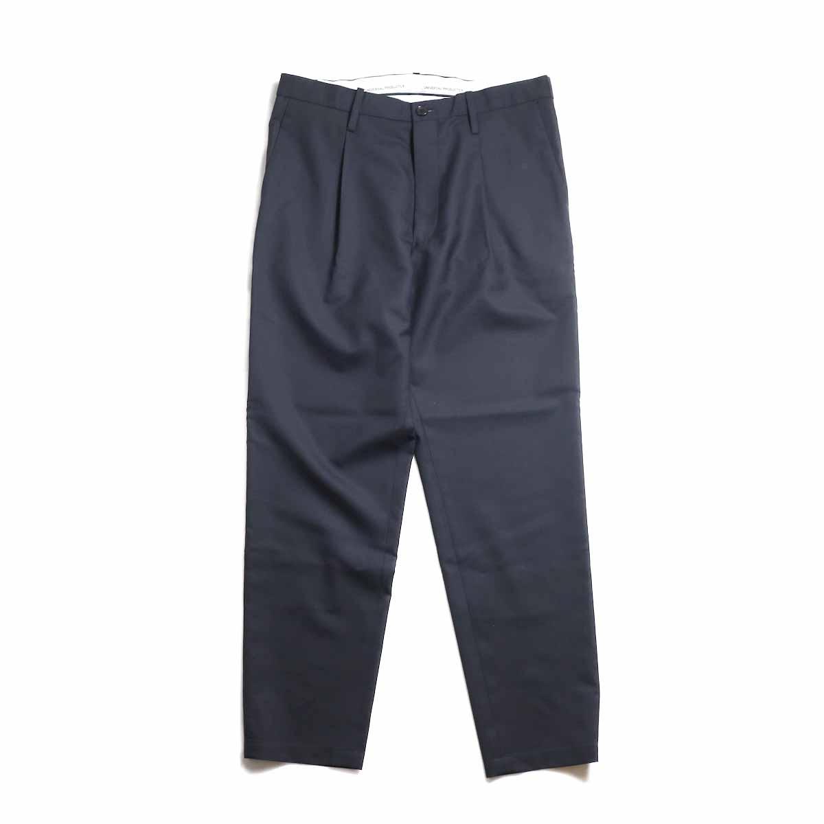 UNIVERSAL PRODUCTS / Wool Easy Slacks -Navy