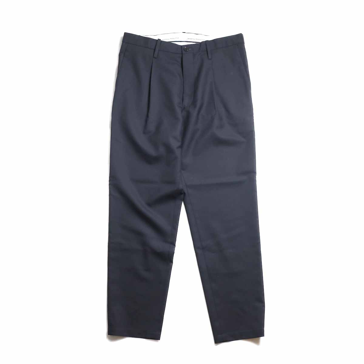 UNIVERSAL PRODUCTS / Wool Easy Slacks -Navy 正面