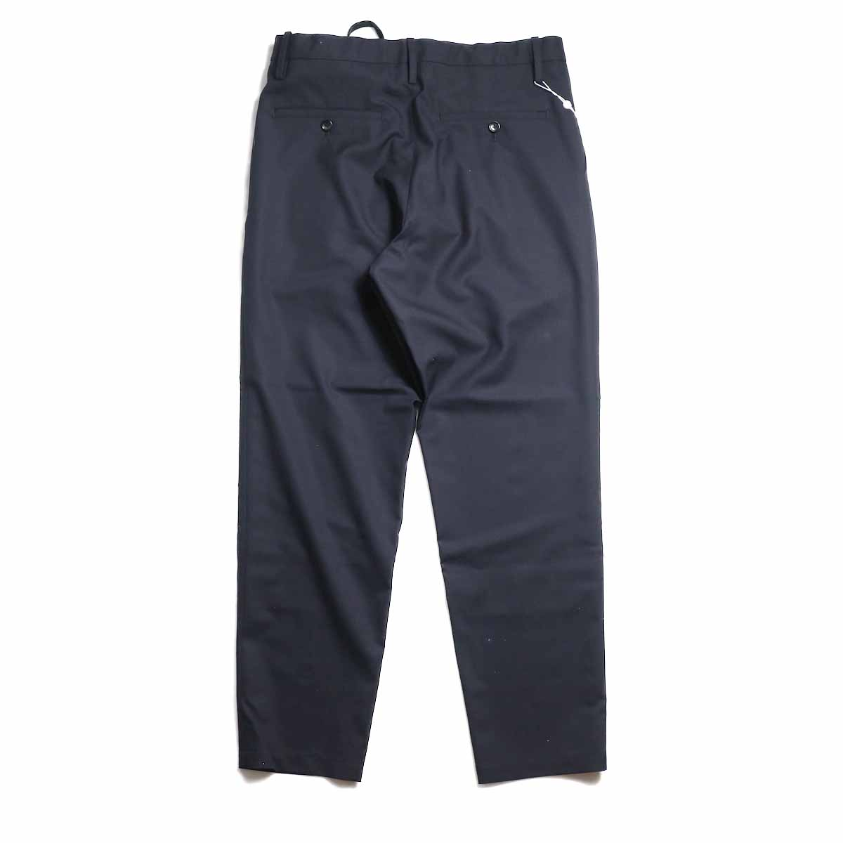 UNIVERSAL PRODUCTS / Wool Easy Slacks -Navy 背面