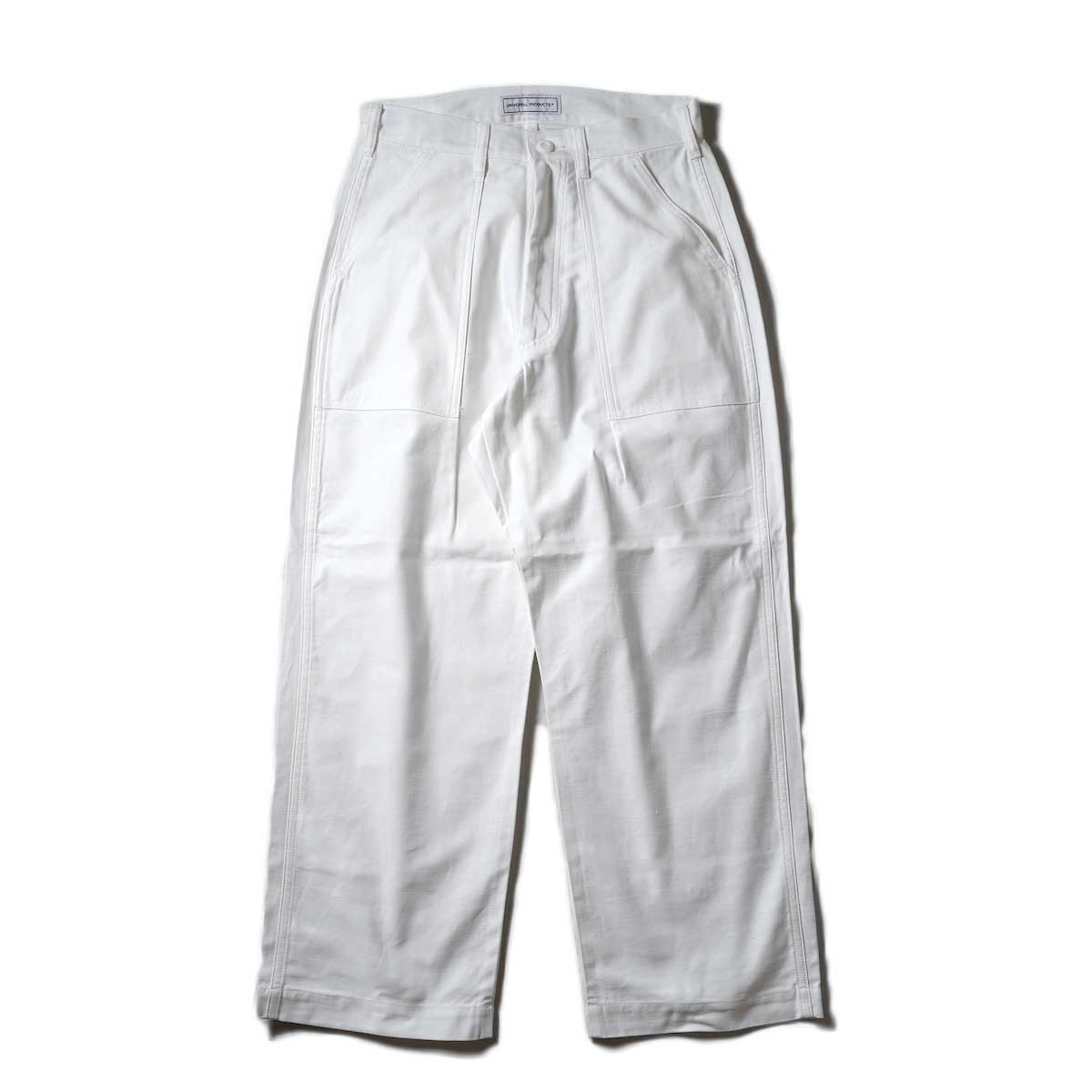 UNIVERSAL PRODUCTS / Gung Ho 1tuck Baker Pants (Ivory)正面