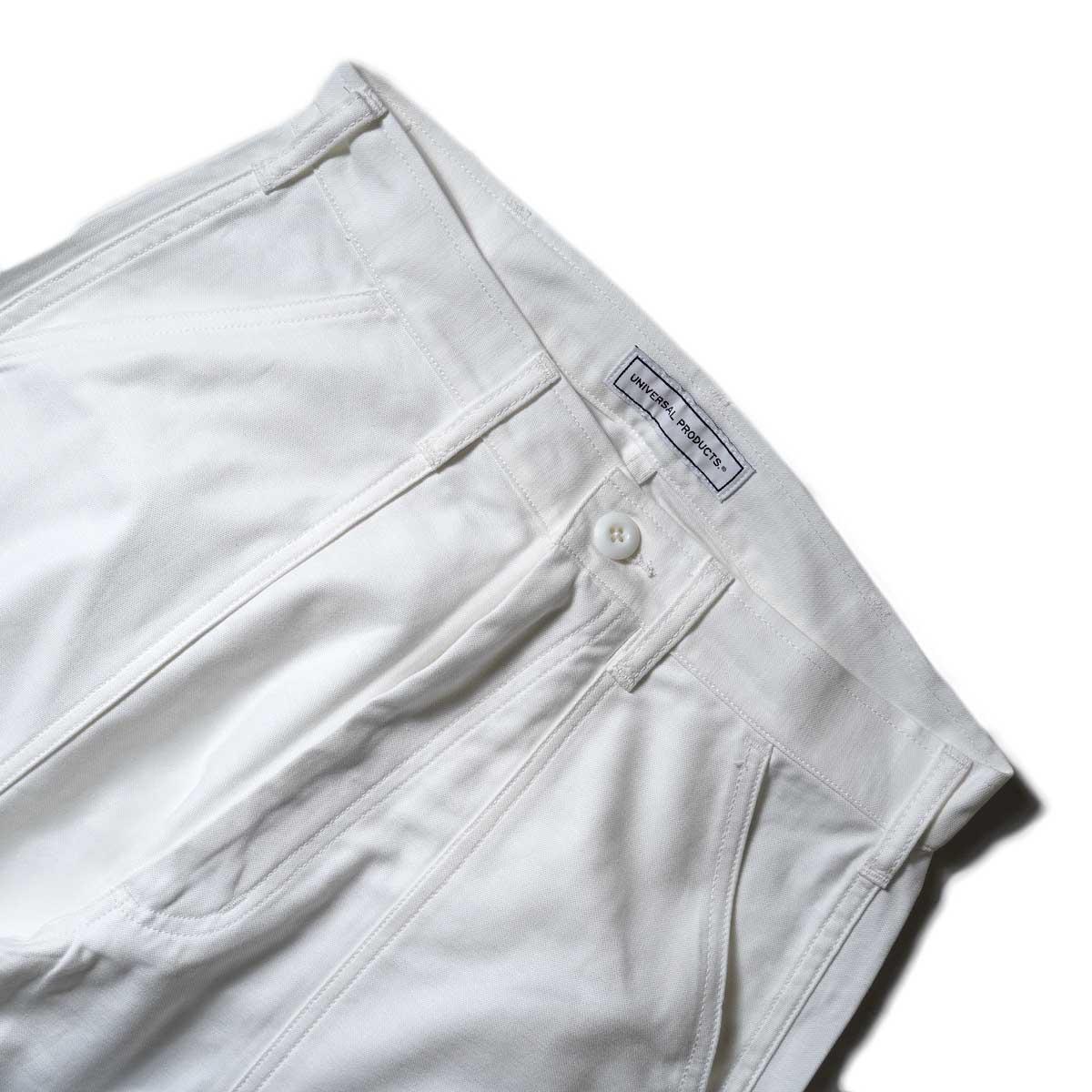 UNIVERSAL PRODUCTS / Gung Ho 1tuck Baker Pants (Ivory)ウエスト