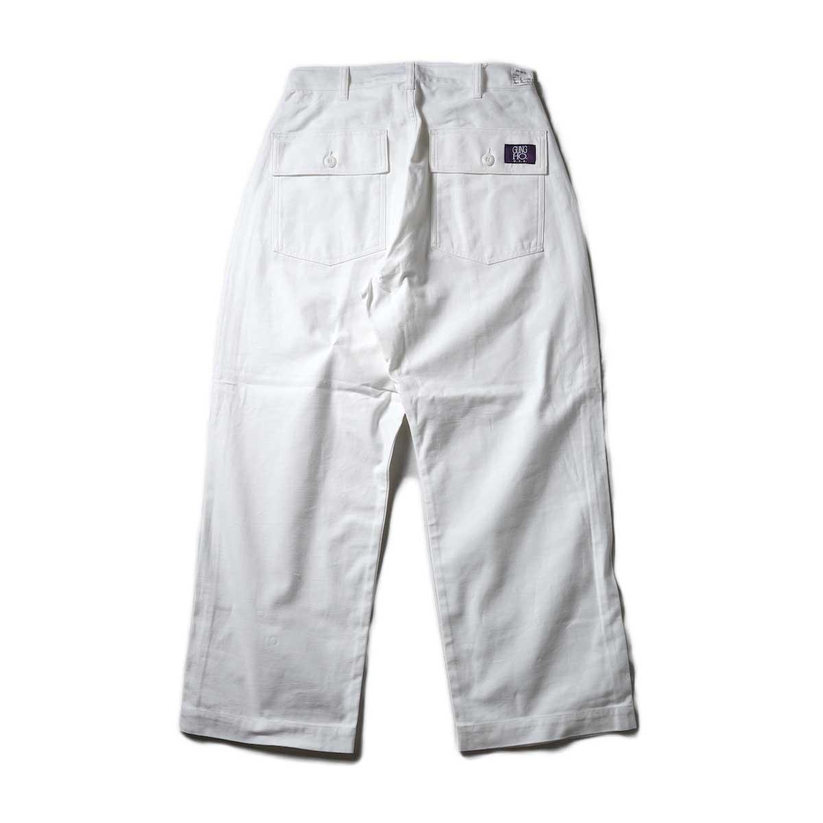 UNIVERSAL PRODUCTS / Gung Ho 1tuck Baker Pants (Ivory)背面
