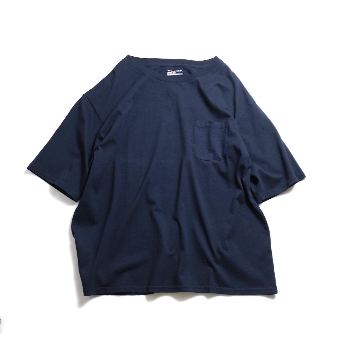 UNIVERSAL PRODUCTS / Heavy Weight S/S T-Shirt -Navy