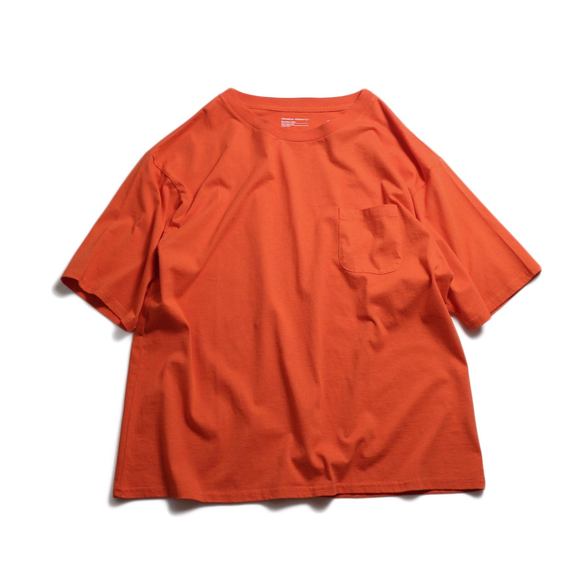 UNIVERSAL PRODUCTS / Heavy Weight S/S T-Shirt -Orange