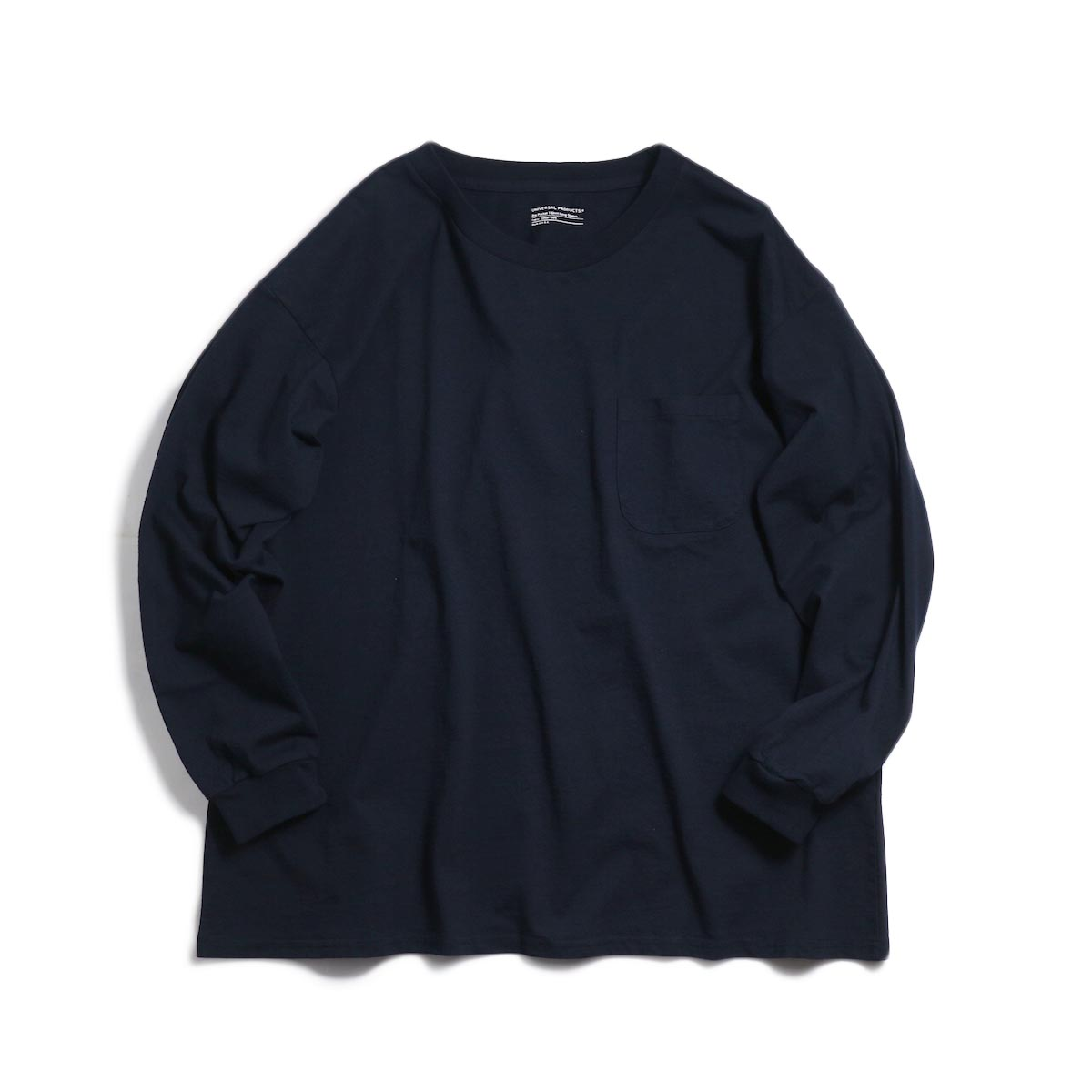 UNIVERSAL PRODUCTS / Heavy Weight L/S T-Shirt -Navy 正面