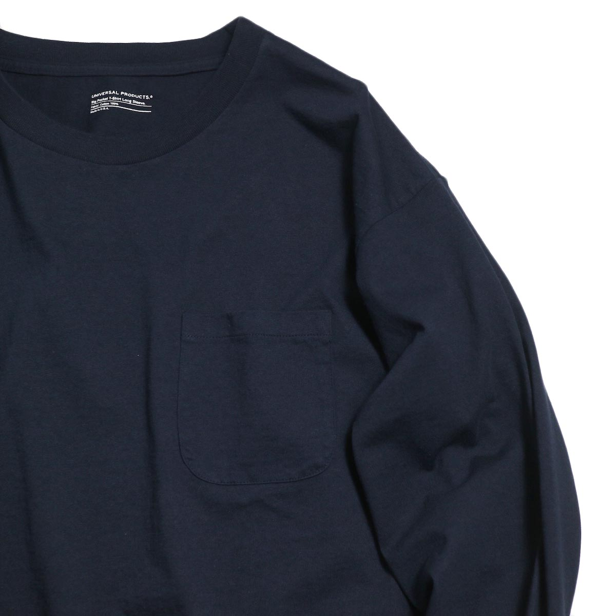 UNIVERSAL PRODUCTS / Heavy Weight L/S T-Shirt -Navy ボディ