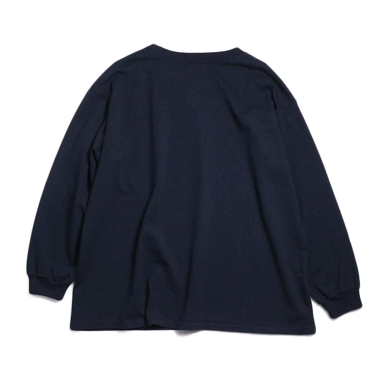 UNIVERSAL PRODUCTS / Heavy Weight L/S T-Shirt -Navy 背面