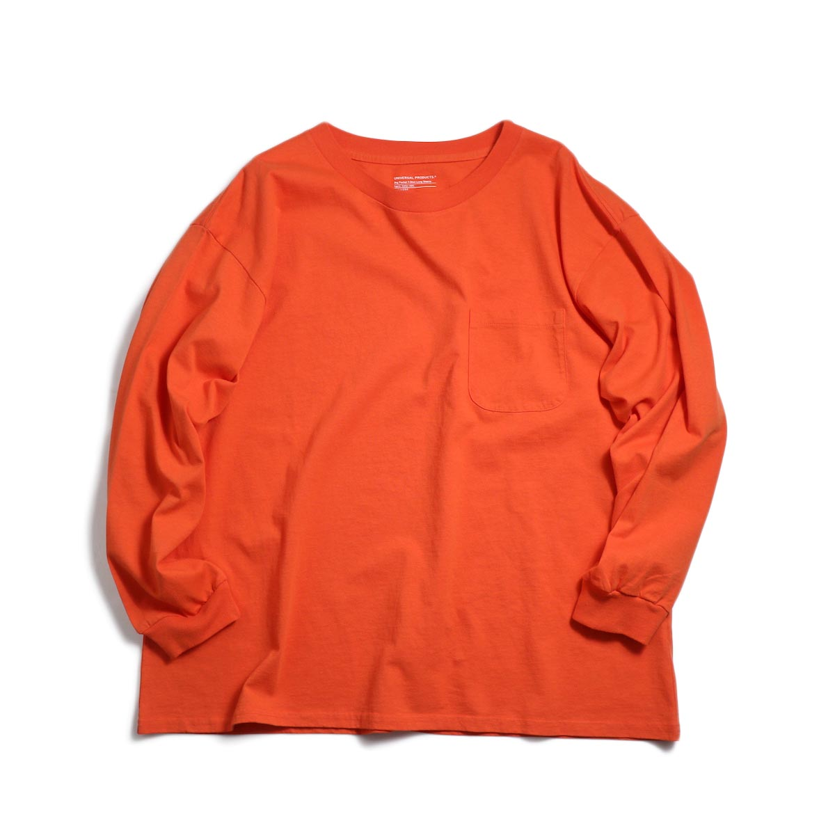 UNIVERSAL PRODUCTS / Heavy Weight L/S T-Shirt -Orange