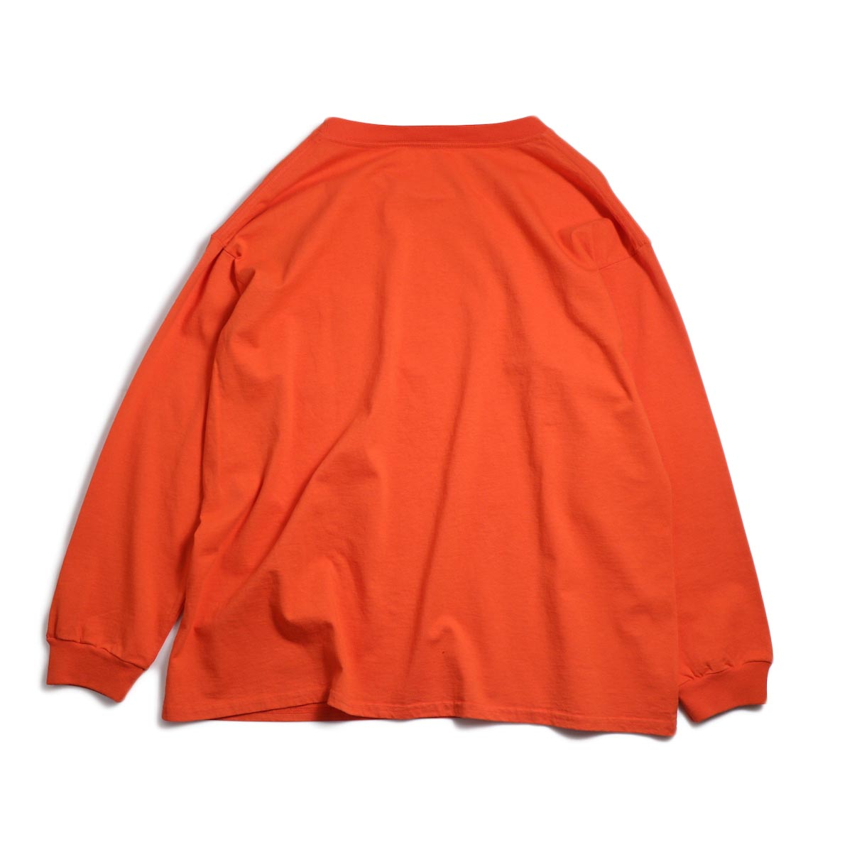 UNIVERSAL PRODUCTS / Heavy Weight L/S T-Shirt -Orange 背面