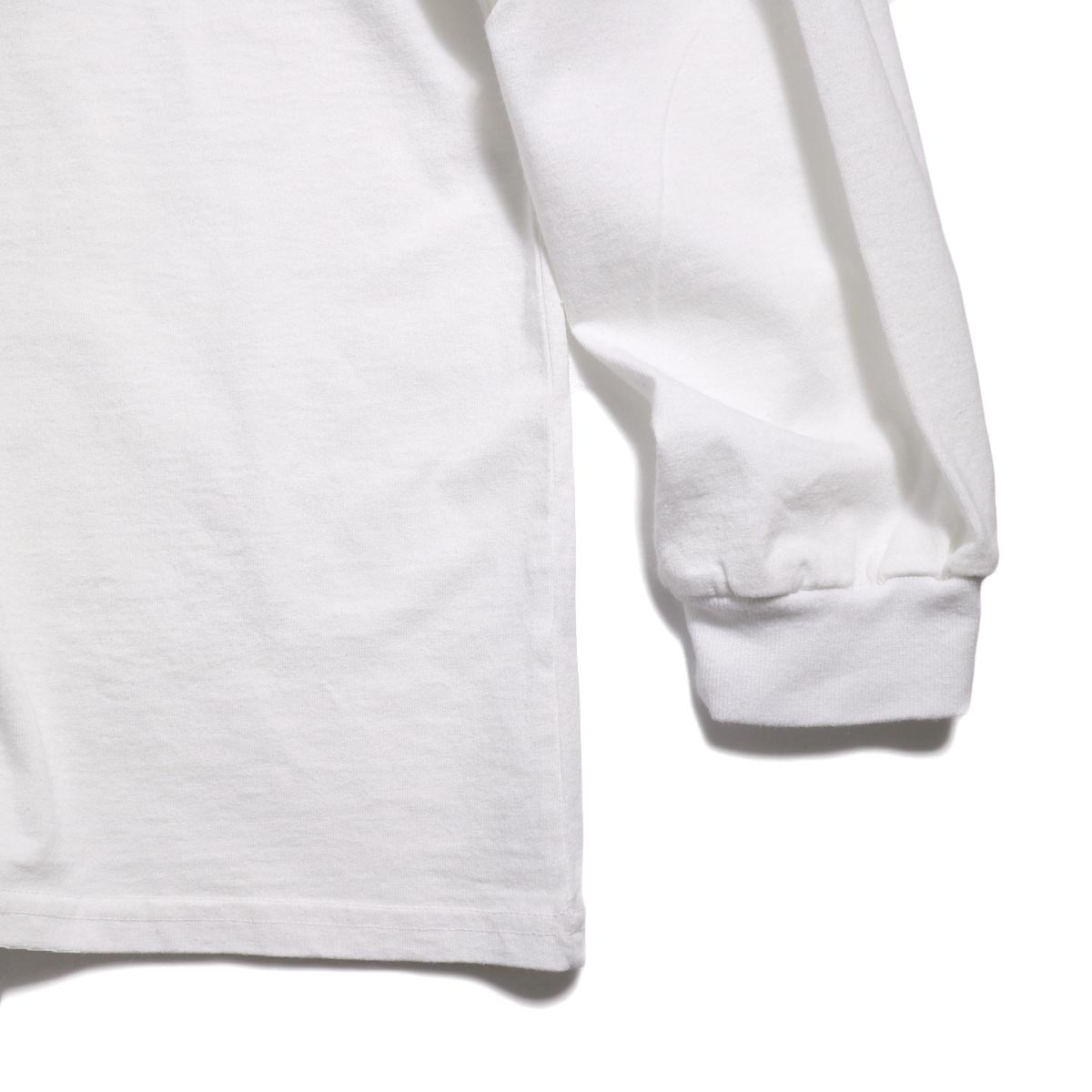 UNIVERSAL PRODUCTS / Heavy Weight L/S T-Shirt -White 裾、袖