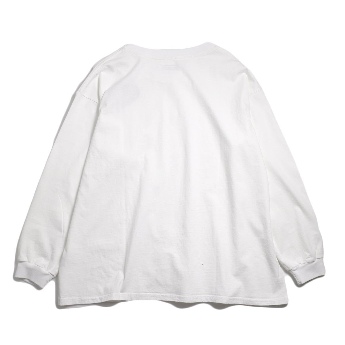 UNIVERSAL PRODUCTS / Heavy Weight L/S T-Shirt -White 背面