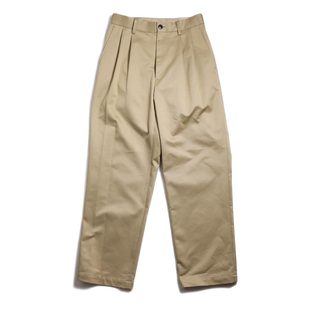 UNIVERSAL PRODUCTS / 2Tuck Wide Chino Pants -Beige
