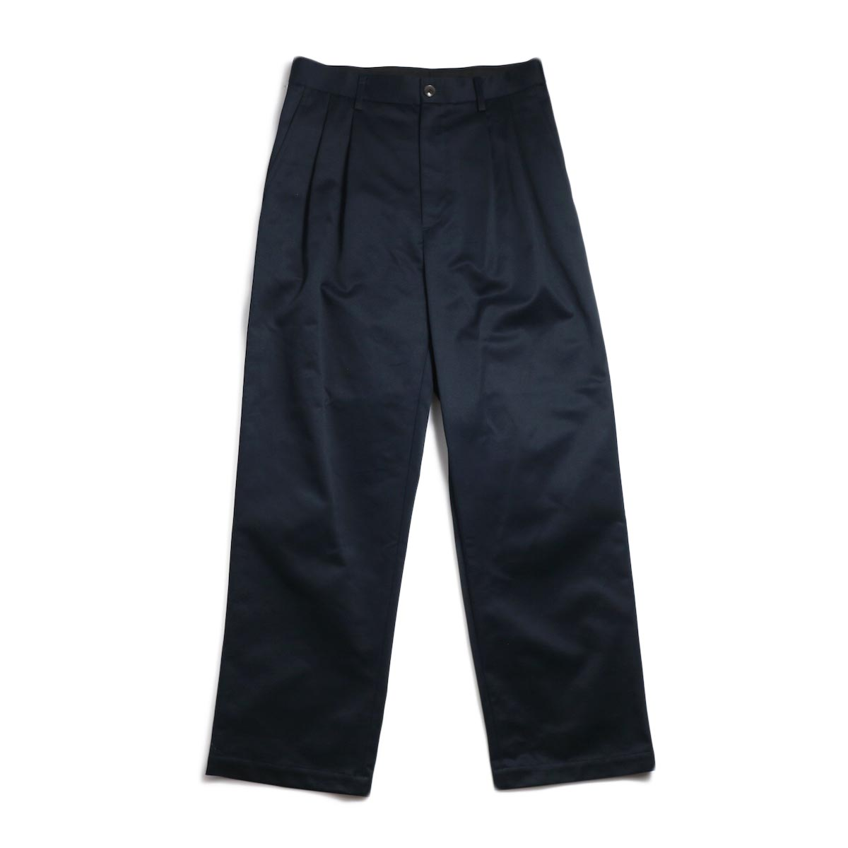 UNIVERSAL PRODUCTS / 2Tuck Wide Chino Pants -Navy