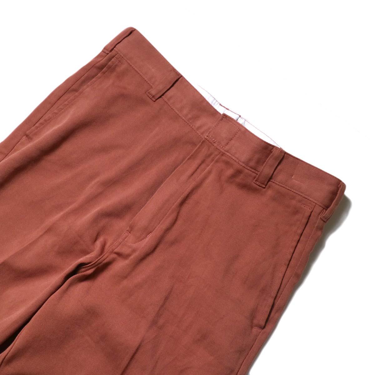 UNUSED × Dickies / UW0939 Cotton Linen Trousers (Orange)ウエスト