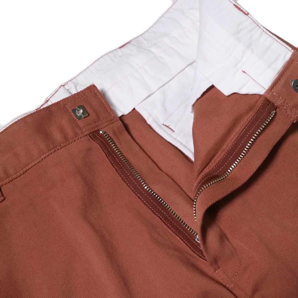 UNUSED × Dickies / UW0939 Cotton Linen Trousers (Orange)  TALONファスナー