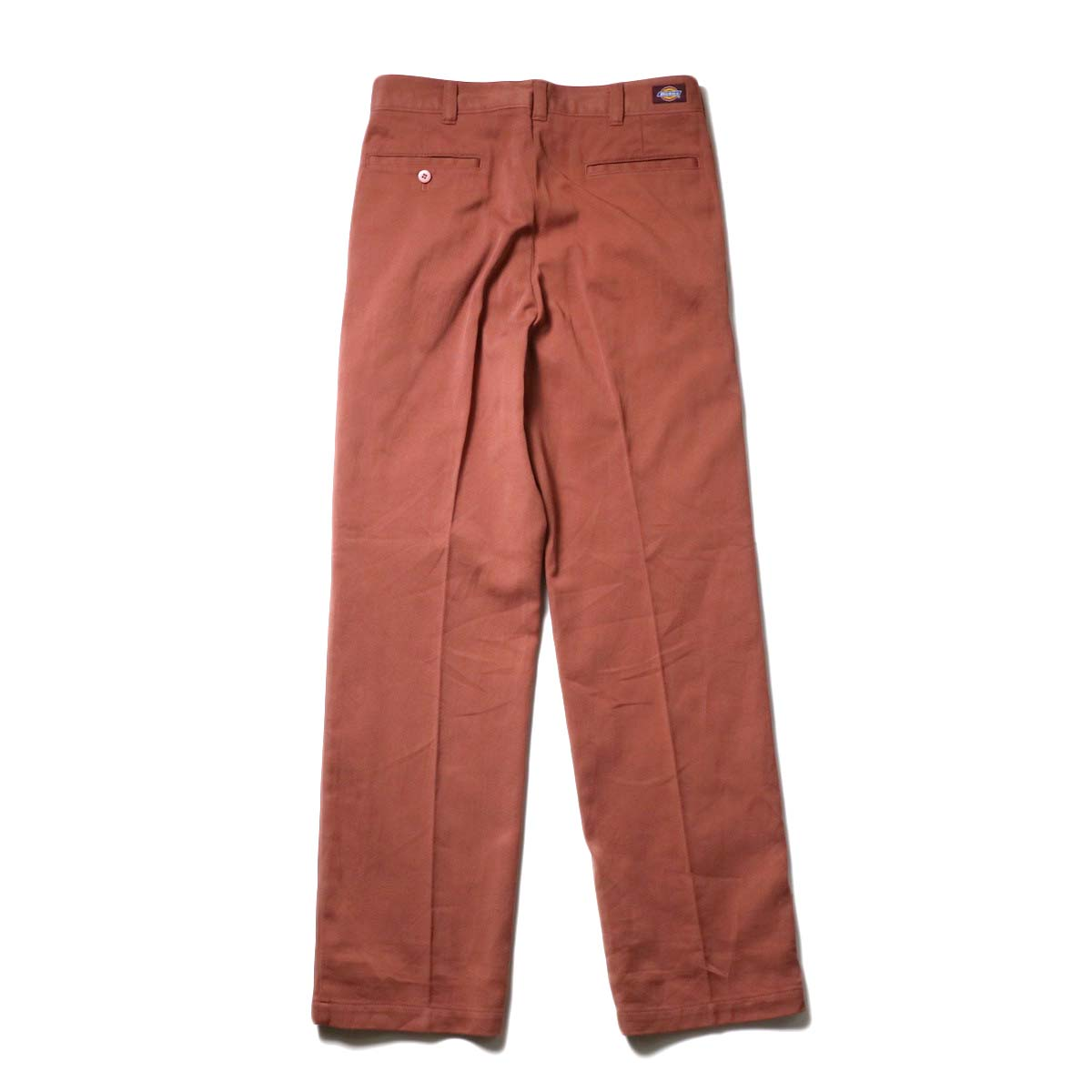 UNUSED × Dickies / UW0939 Cotton Linen Trousers (Orange)  背面