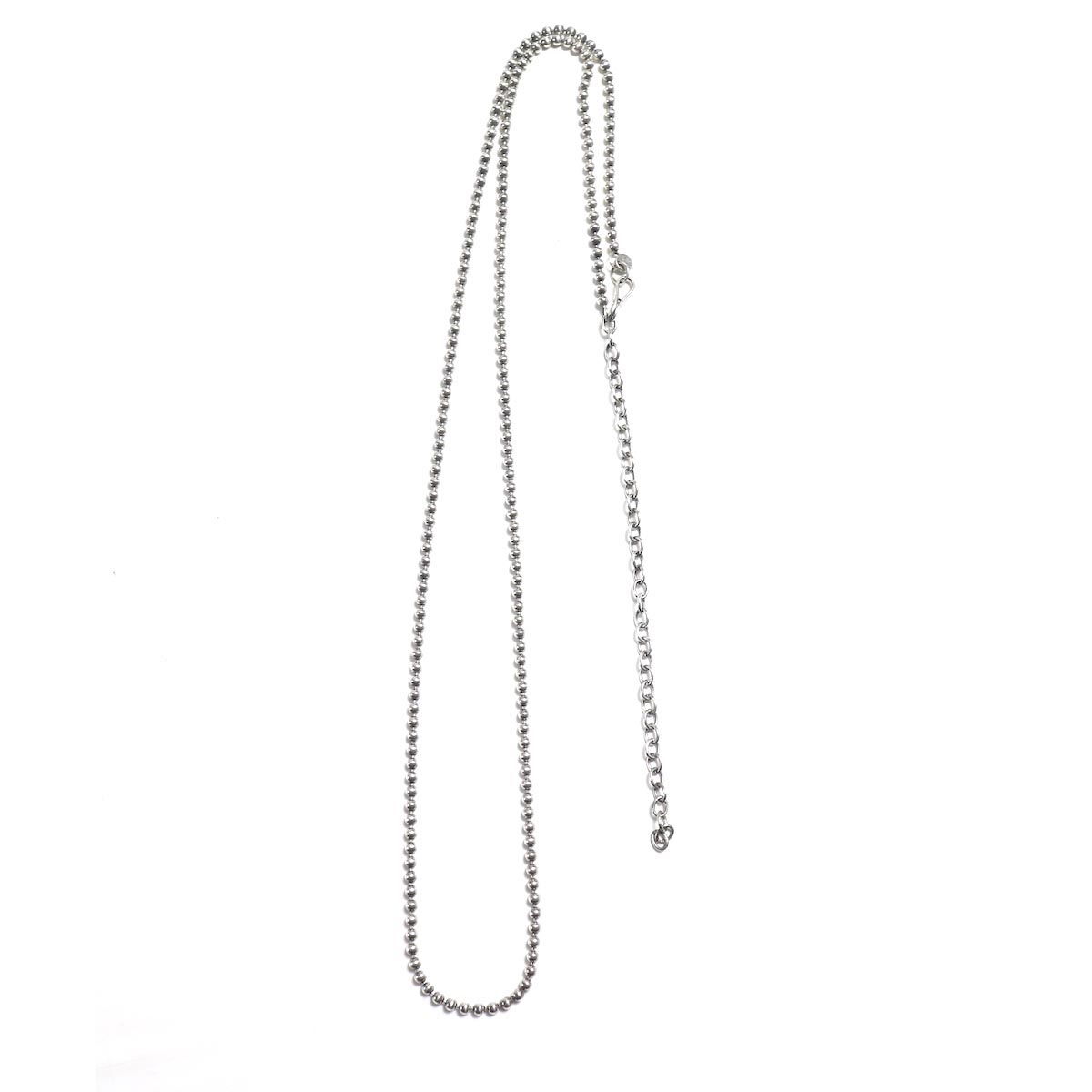 UNUSED / UH0473 Silver Ball Chain Necklace