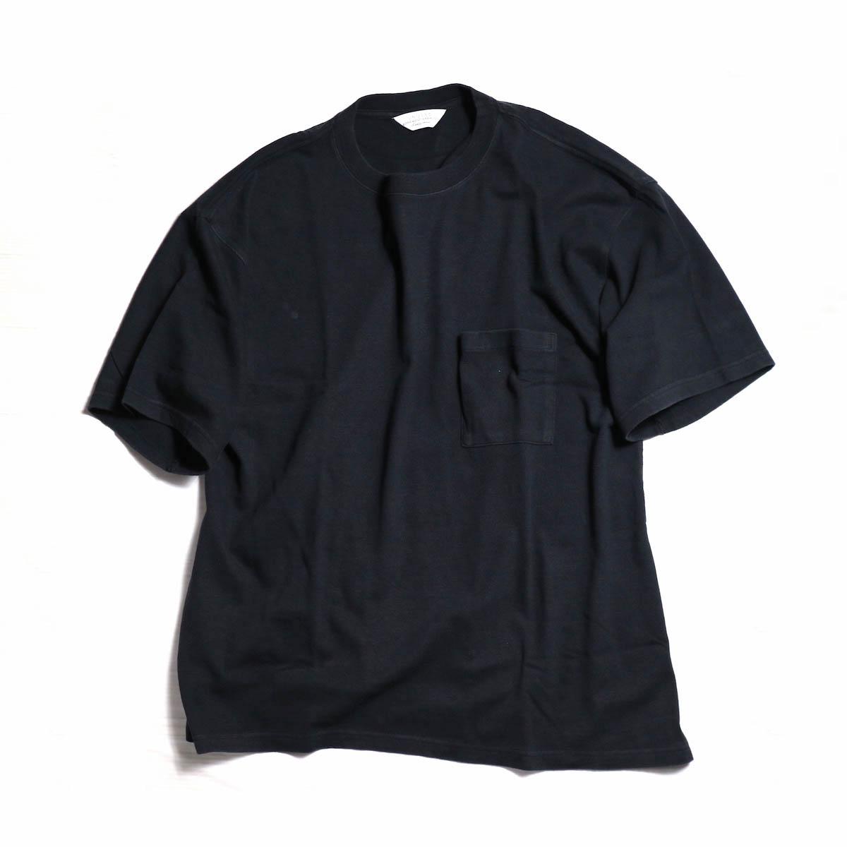 UNUSED / US1368 RAYON LOOSE TEE -BLACK