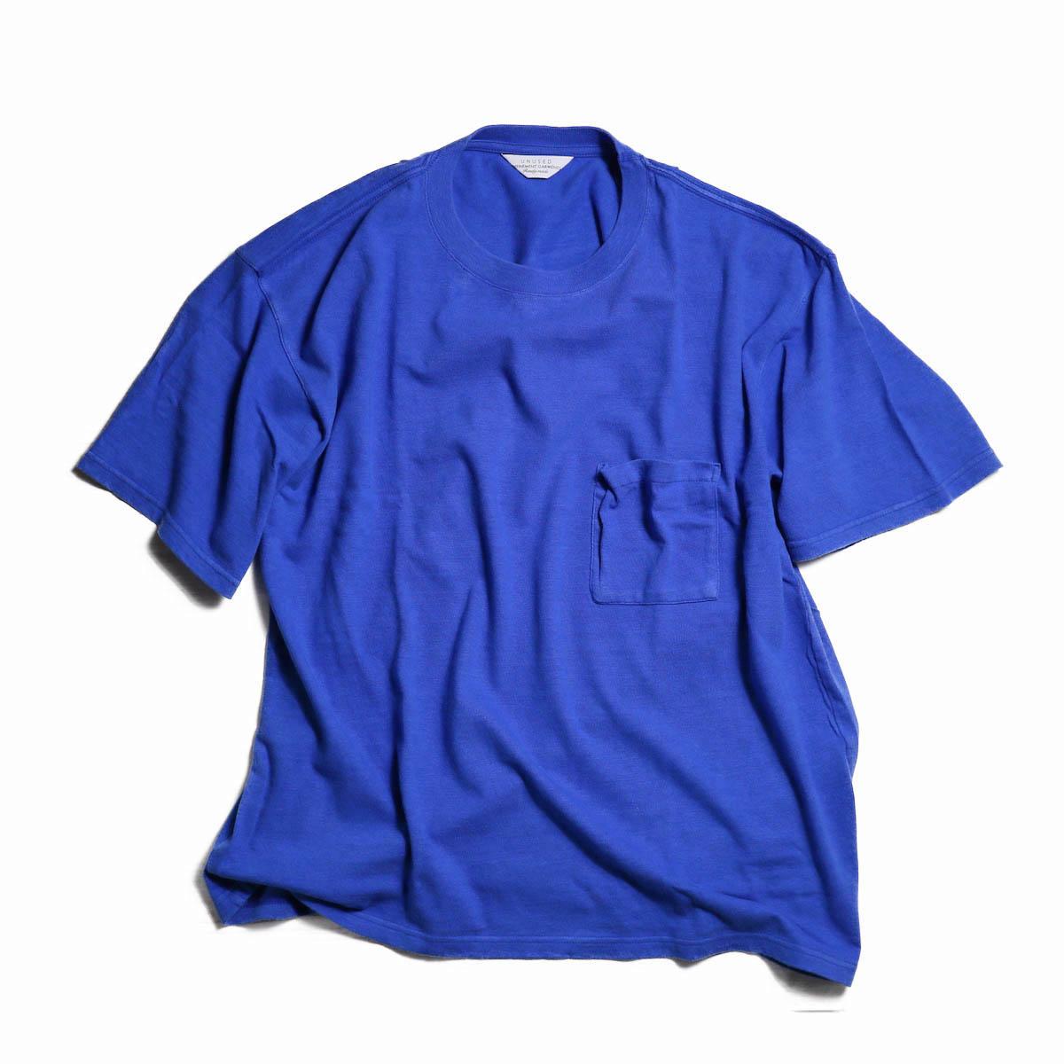 UNUSED / US1368 RAYON LOOSE TEE -BLUE