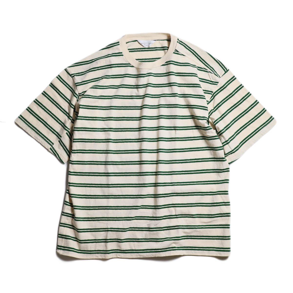 UNUSED / US1388 BORDER TEE -OFF WHITE × GREEN