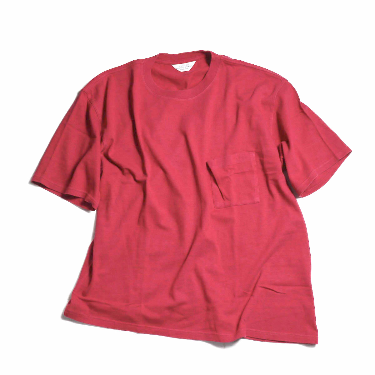 UNUSED / US1435 RAYON LOOSE TEE -RED