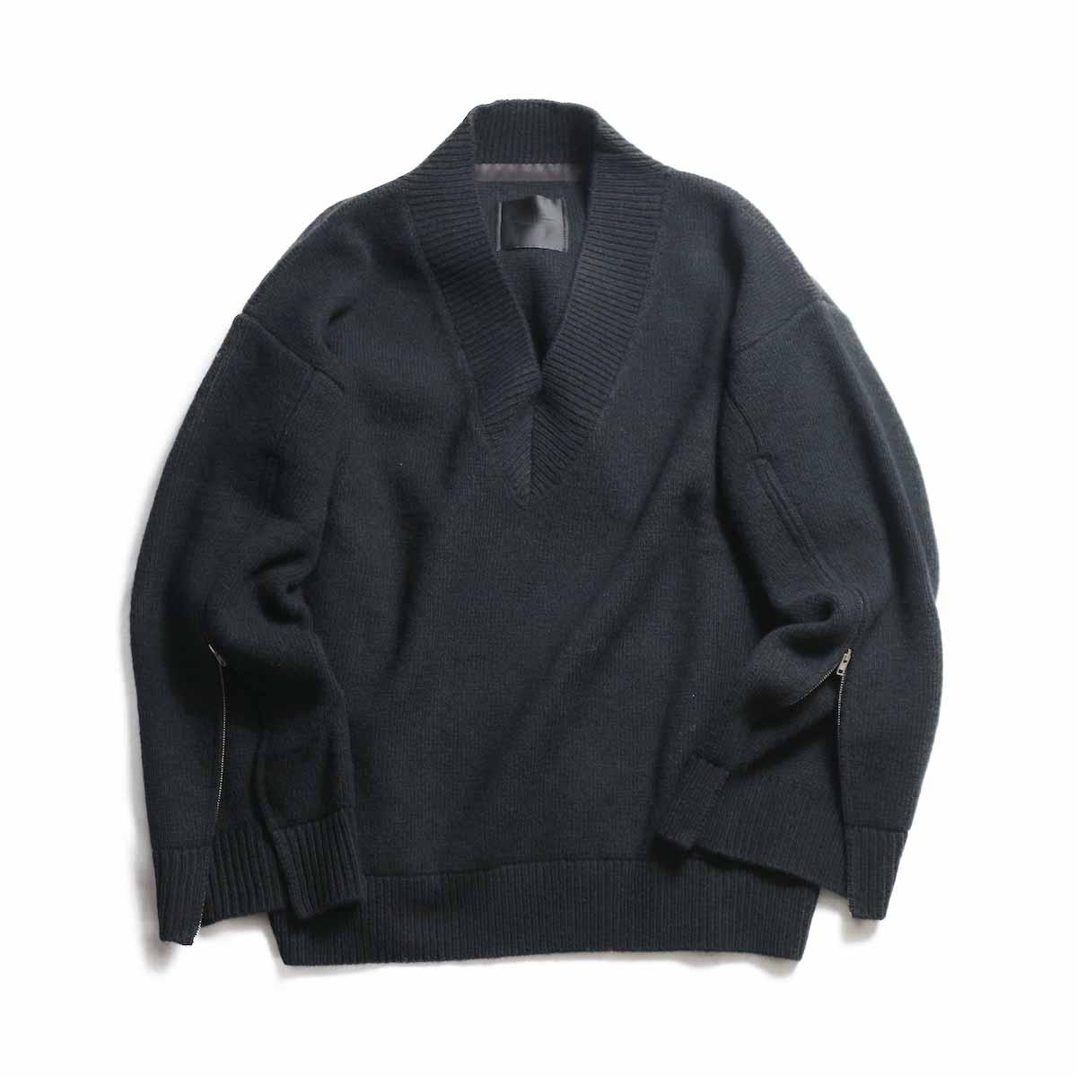 UNUSED Ladies / US1498 Zip Knit -BLACK