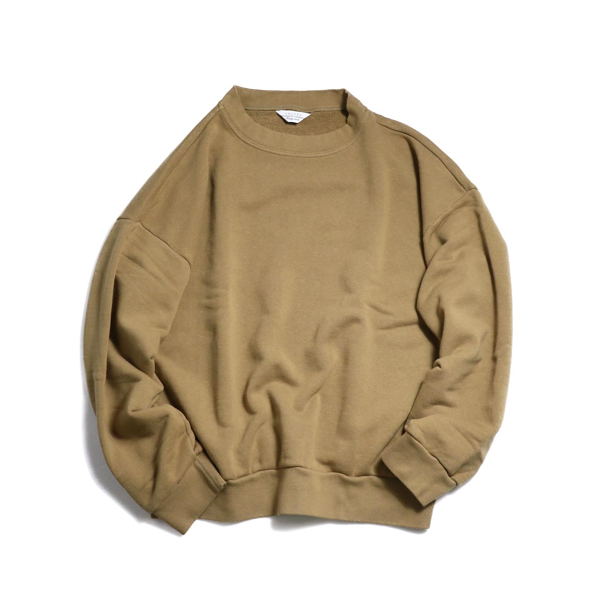 UNUSED / US1529 Crew Neck Sweat Shirt -CAMEL