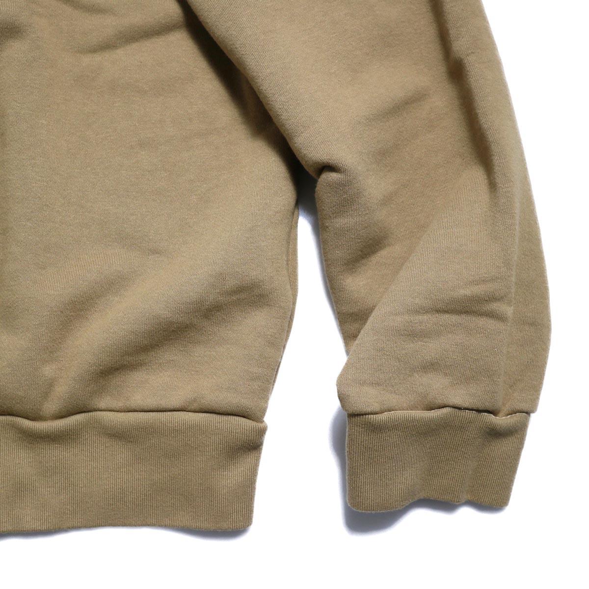 UNUSED / US1529 Crew Neck Sweat Shirt -CAMEL  袖・裾