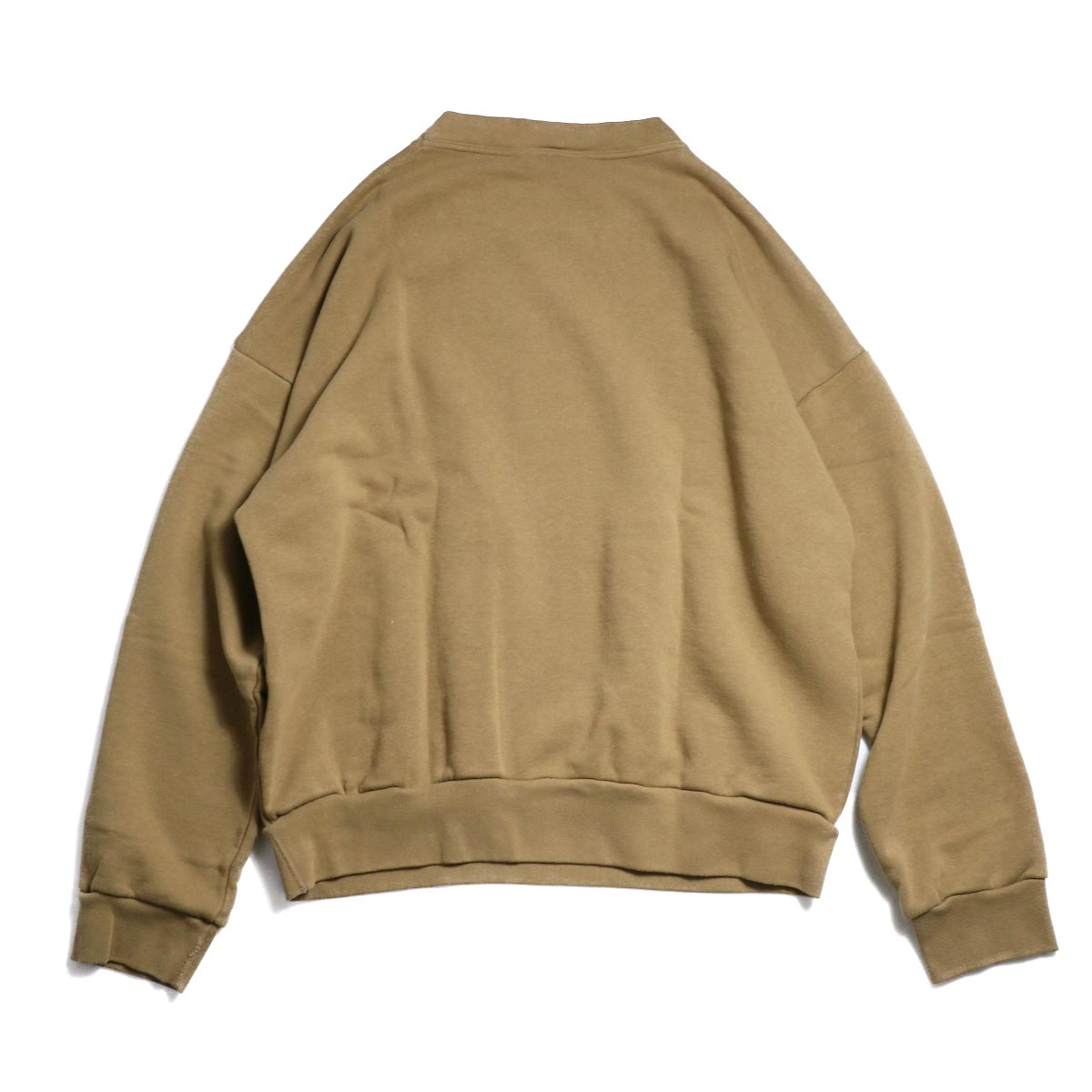 UNUSED / US1529 Crew Neck Sweat Shirt -CAMEL  背面