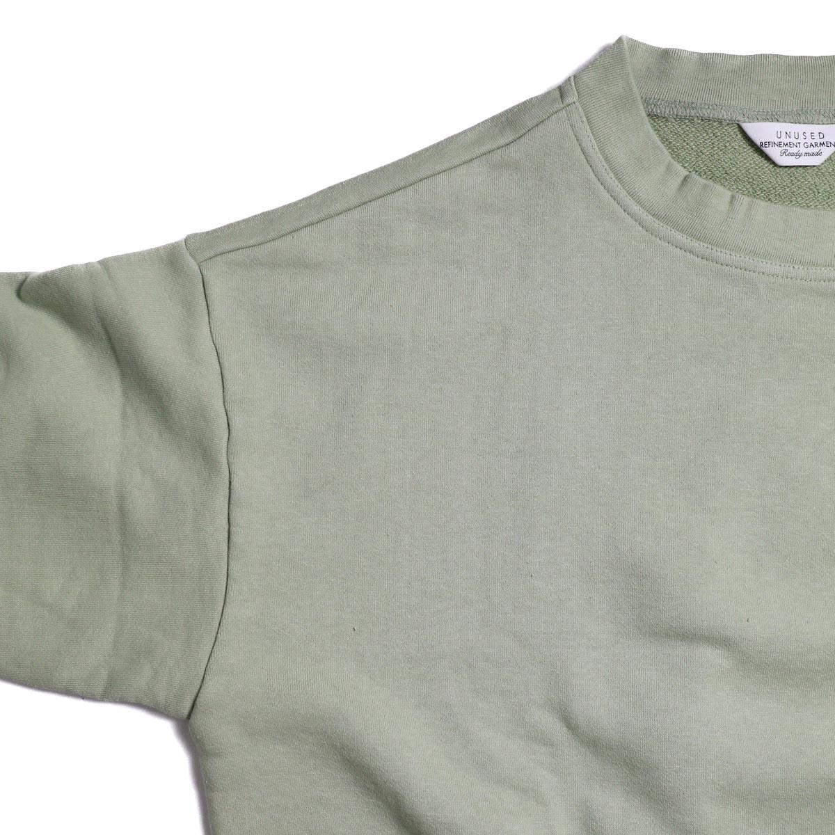 UNUSED / US1530 Crew Neck Sweat Shirt -SAGE GREEN ドロップショルダー