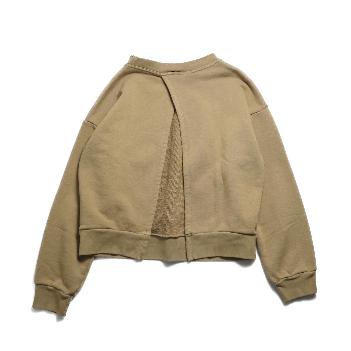 UNUSED / US1530 Crew Neck Sweat Shirt -CAMEL