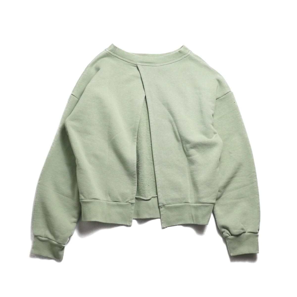UNUSED (Ladie's) / US1530 Crew Neck Sweat Shirt -SAGE GREEN
