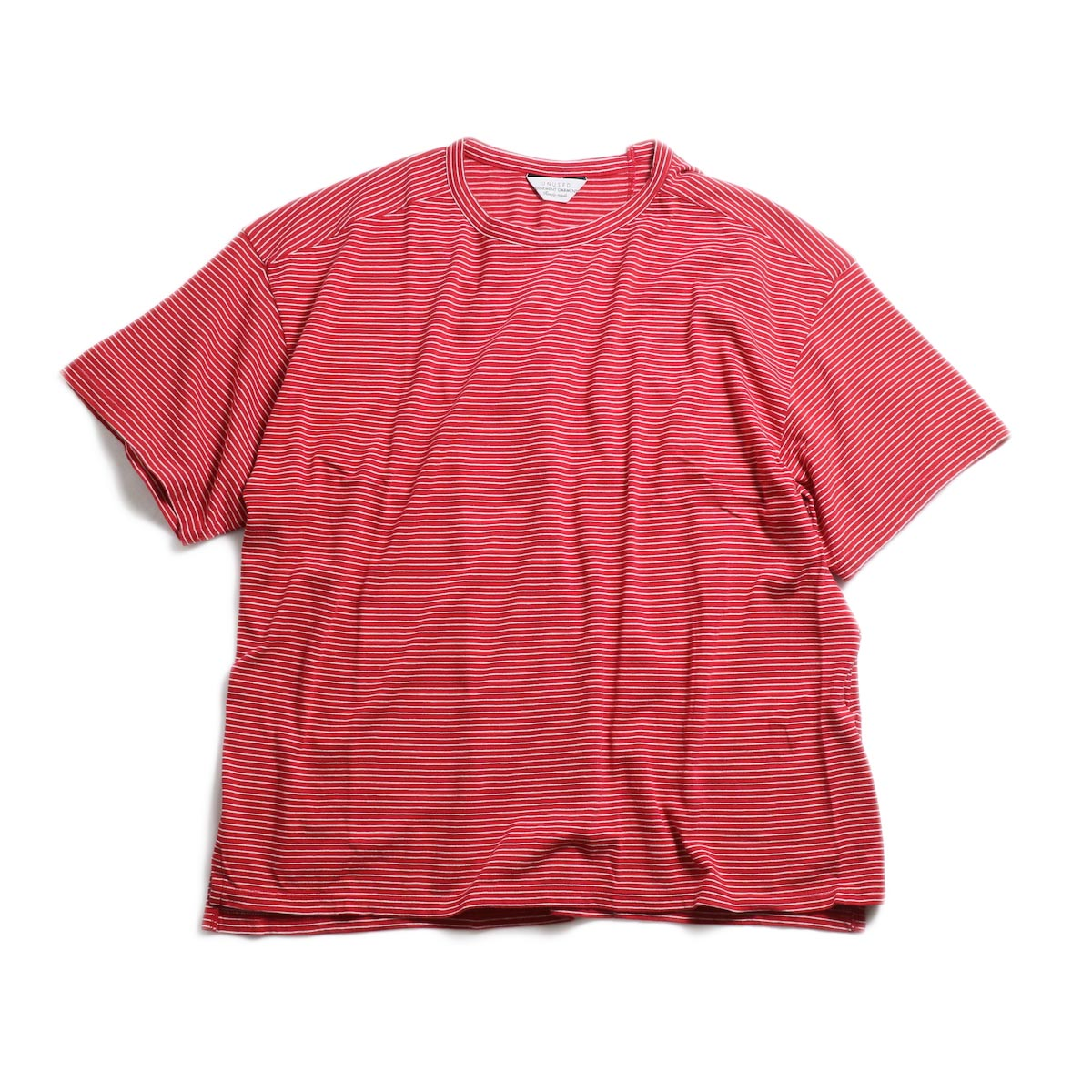 UNUSED / US1546 Border S/S Tee (Red×White) 正面