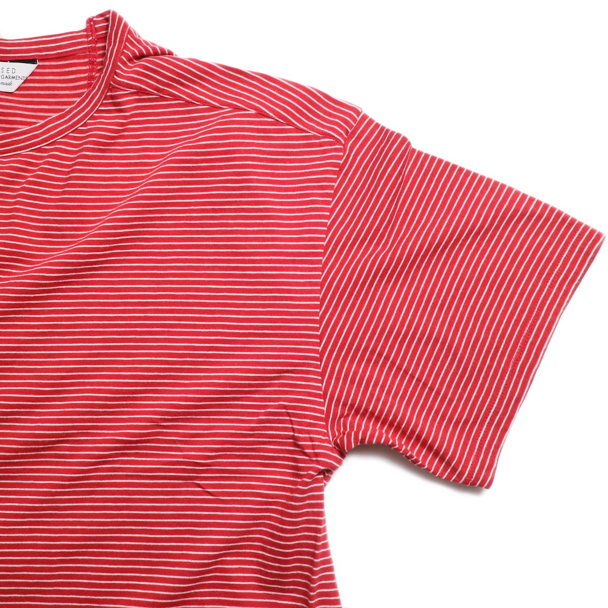 UNUSED / US1546 Border S/S Tee (Red×White) 袖