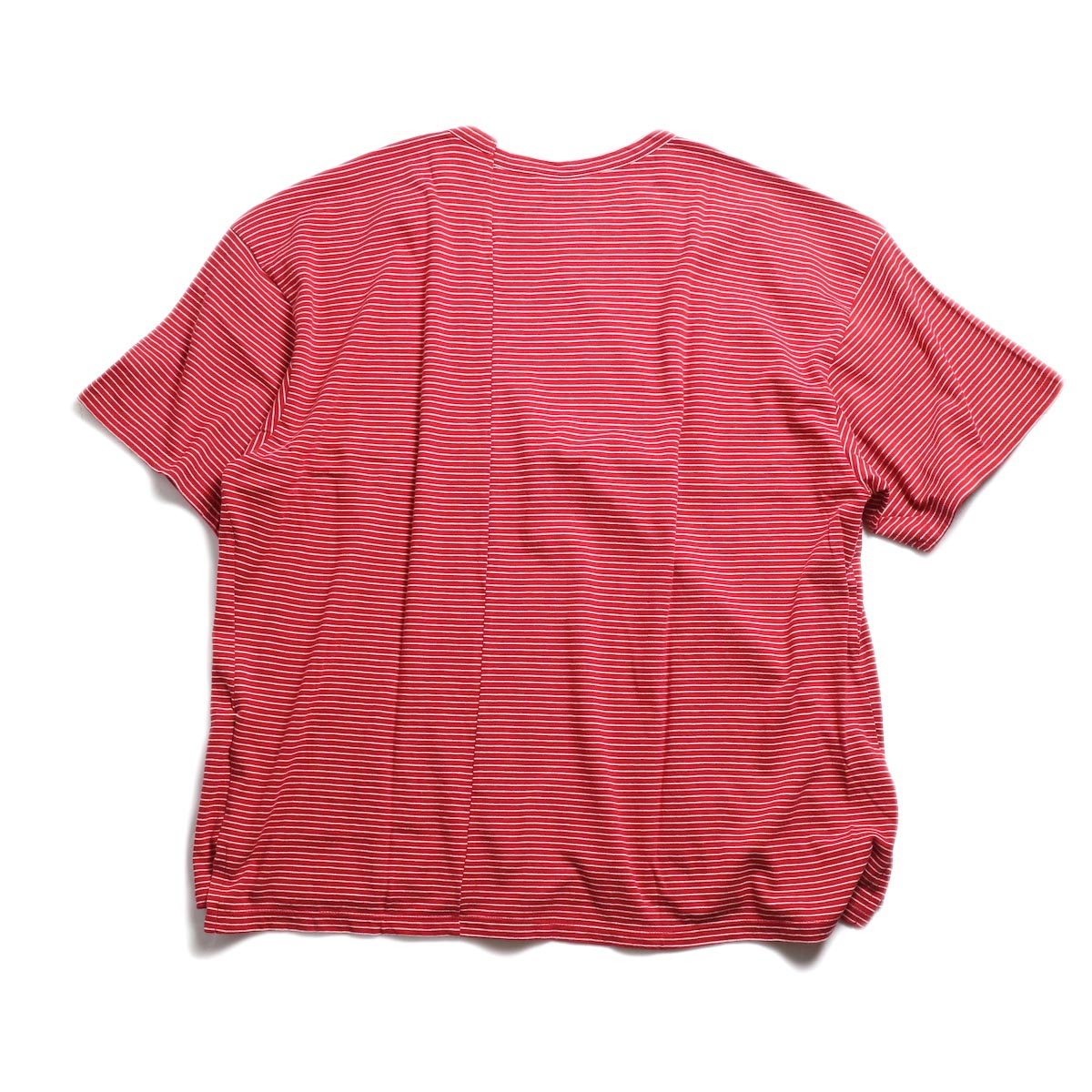 UNUSED / US1546 Border S/S Tee (Red×White) 背面