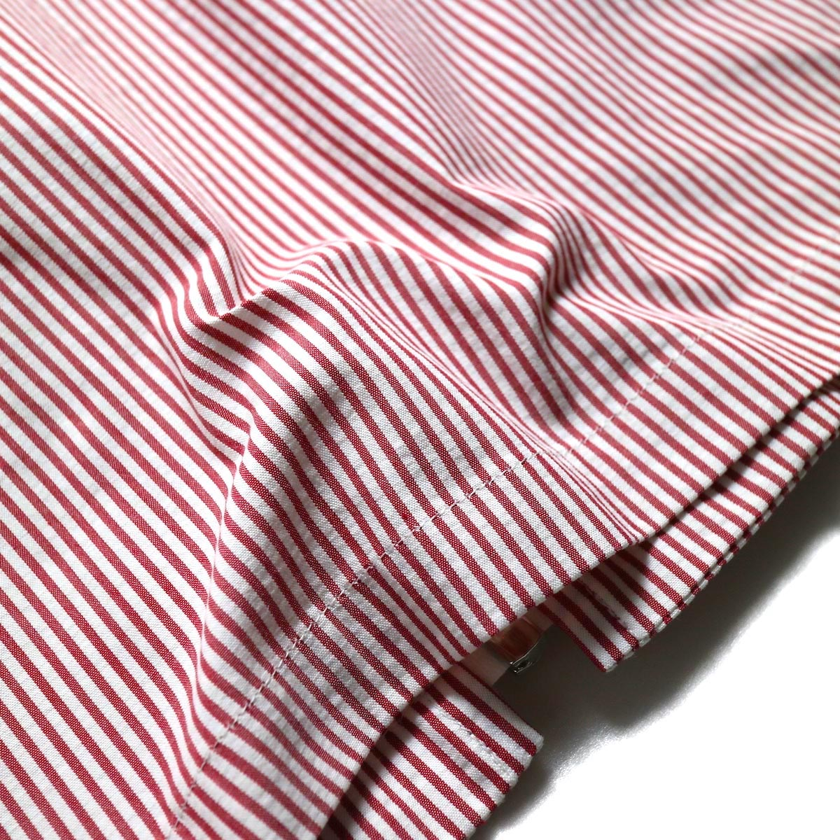 UNUSED / US1564 Stripe Drizzler Jacket. (Red × White)  生地感