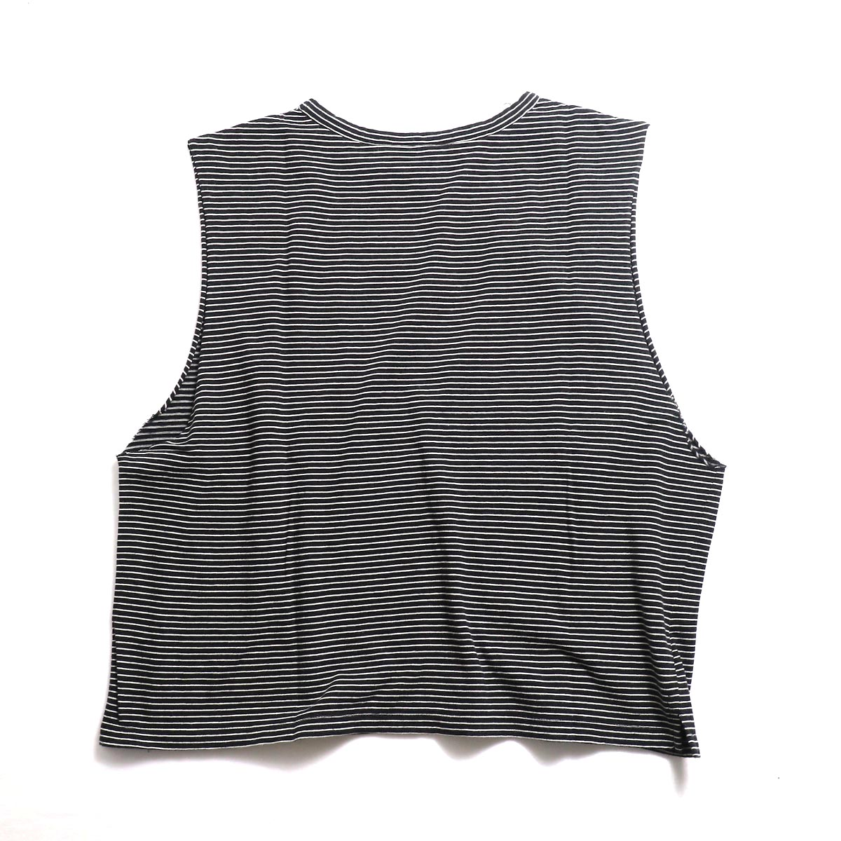 UNUSED / US1568 Border No Sleeve Tee (Black×White)背面