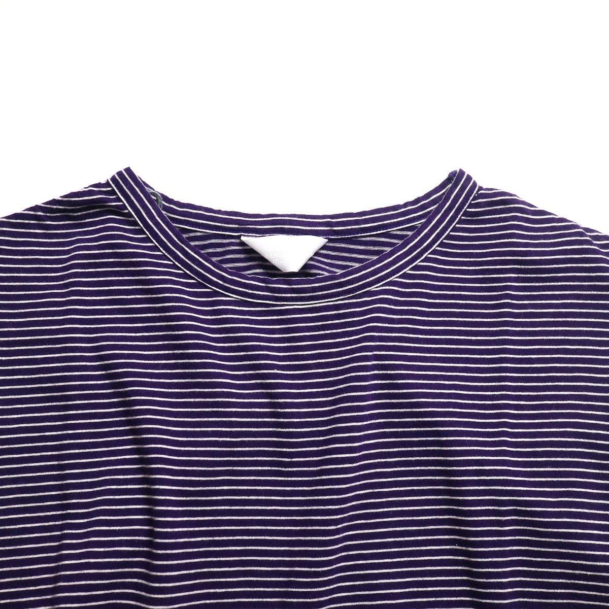 UNUSED / US1568 Border No Sleeve Tee (Purple×White)襟