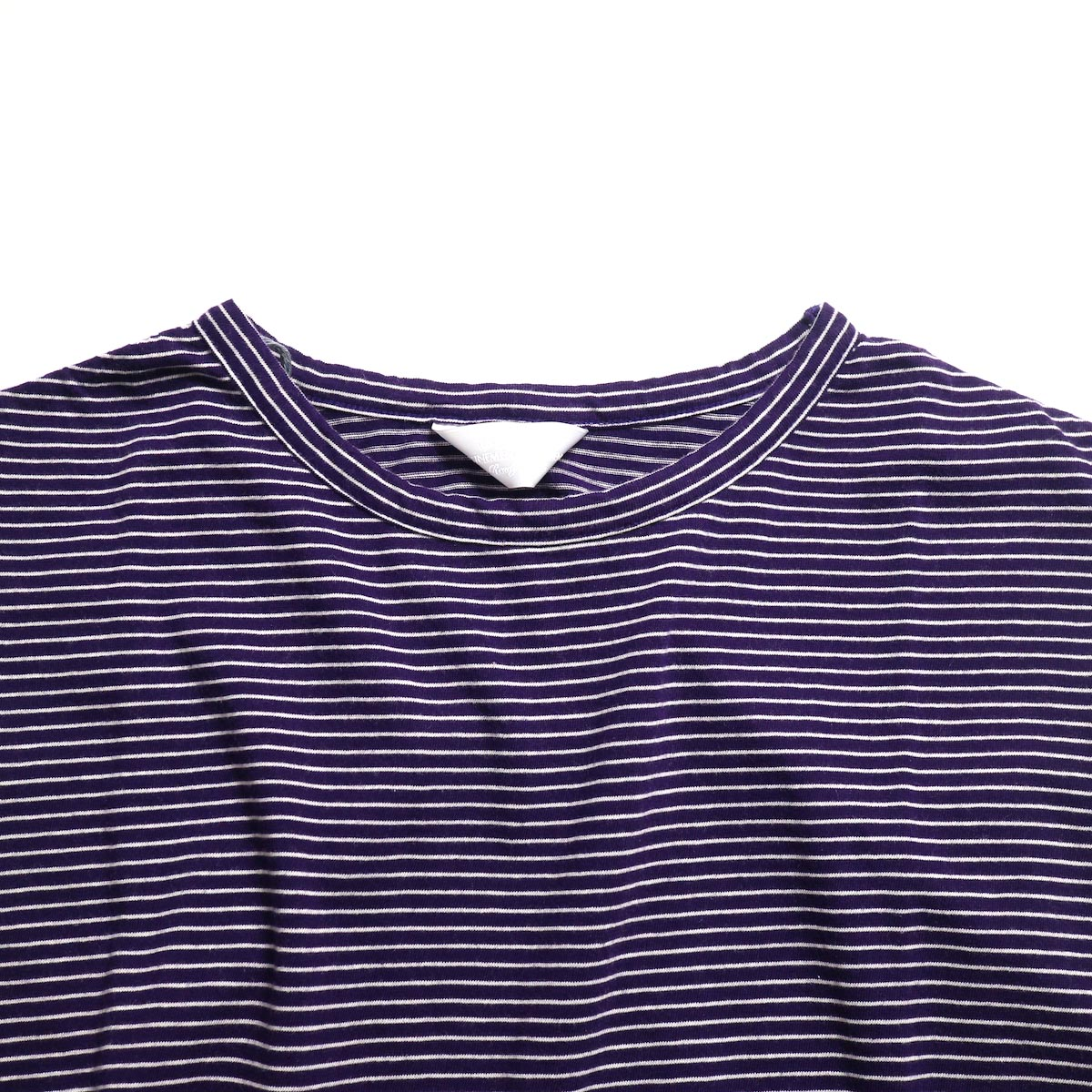 UNUSED / US1568 Border No Sleeve Tee (Purple×White)襟