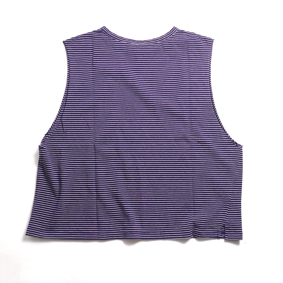 UNUSED / US1568 Border No Sleeve Tee (Purple×White) 背面