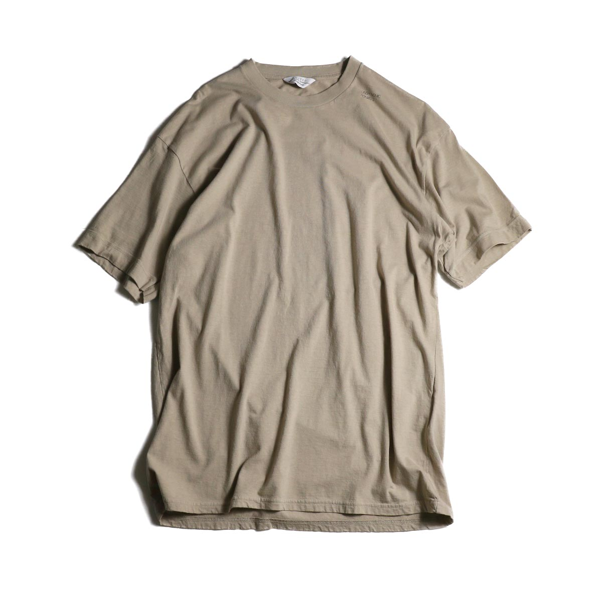 UNUSED / US1575 Crew Neck S/S Tee (Beige)