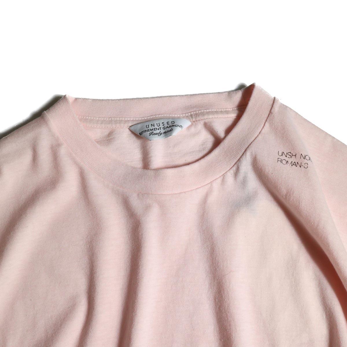 UNUSED / US1575 Crew Neck S/S Tee (Pink)クルーネック