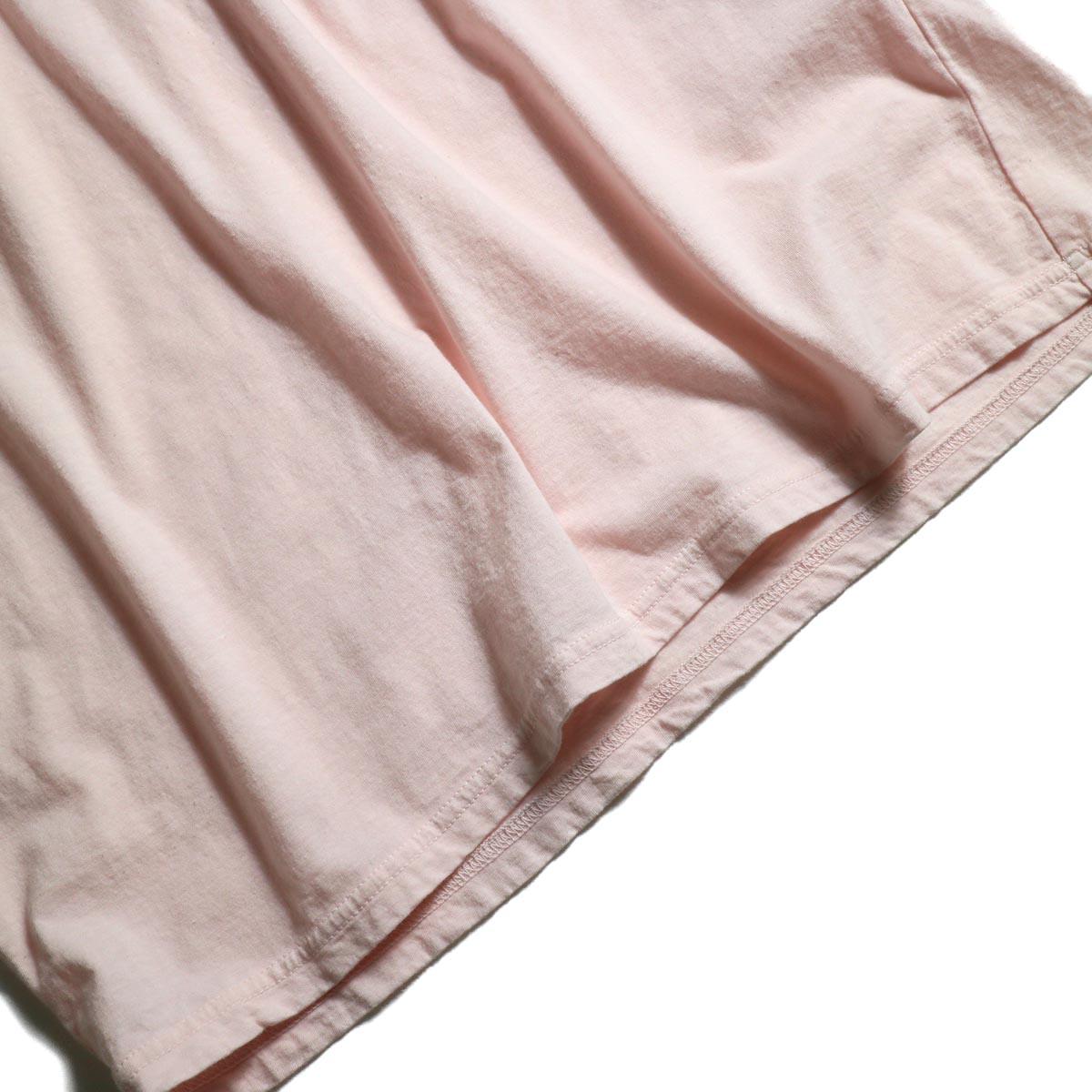 UNUSED / US1575 Crew Neck S/S Tee (Pink)裾