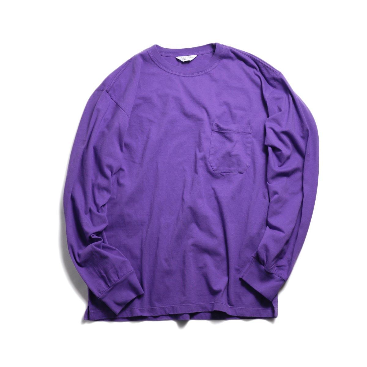 UNUSED / US1595 Long Sleeve Pocket T-Shirt -Purple