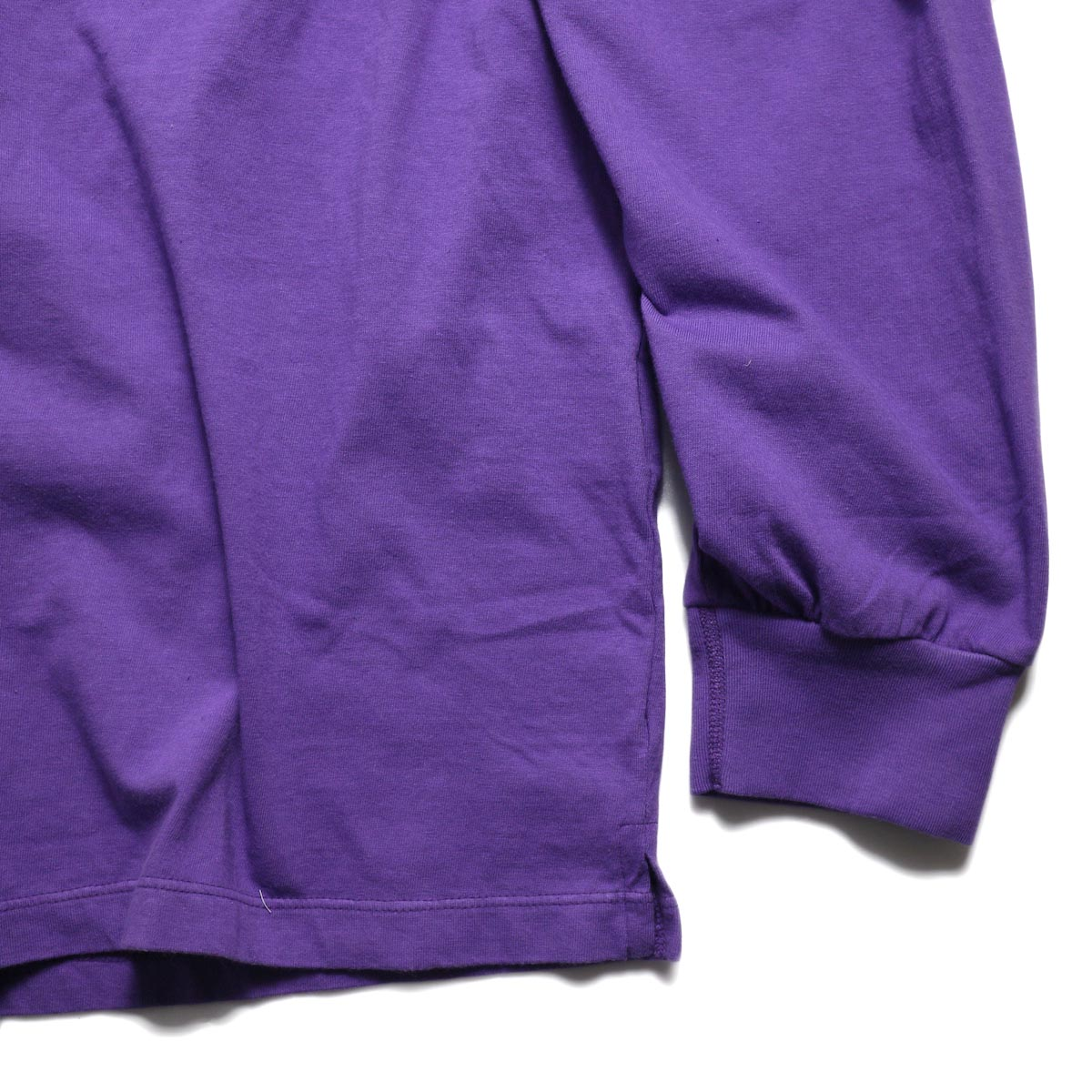 UNUSED / US1595 Long Sleeve Pocket T-Shirt -Purple 裾、袖