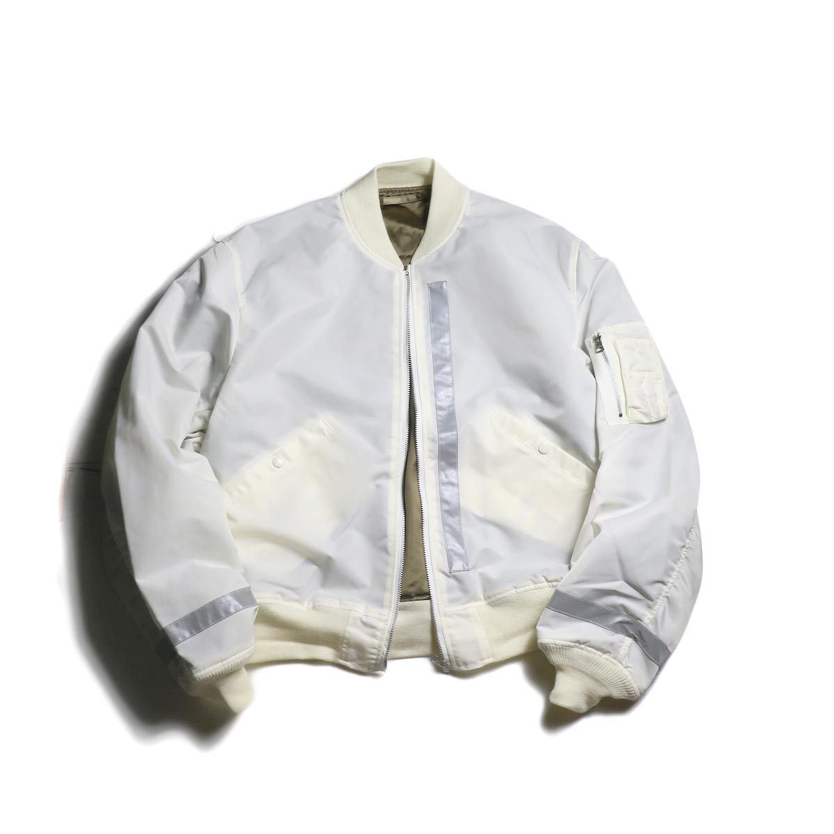 UNUSED × BUZZ RICKSON'S / US1640 Reversible Flight Jacket (White)